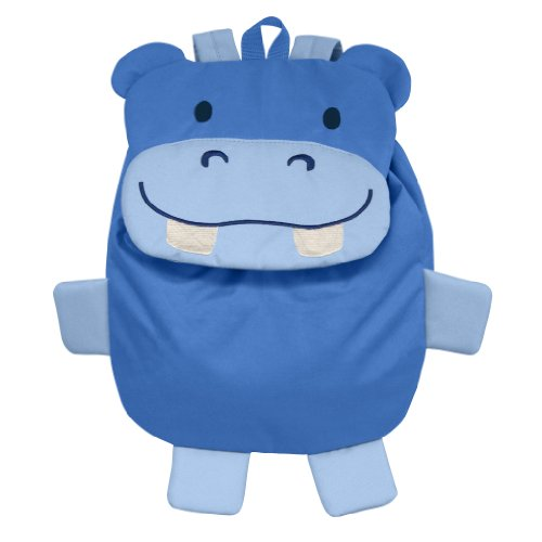 Green Sprouts Safari Friends Backpack, Blue Hippo