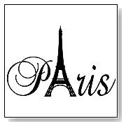 Paris Eiffel Tower Wall Sticker Vinyl Lettering