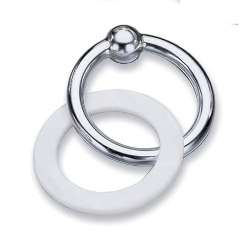 lunt sterling silver baby teething ring