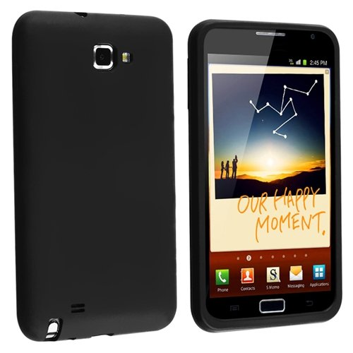 Silicone Skin Case for Samsung© Galaxy Note N7000, Black