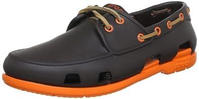 (舒适)卡洛驰男士透气休闲鞋 crocs Men's Beach Line Navy White,折后$31.49