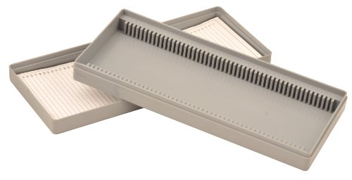 Eisco BI0114C Slide Box, Polystyrene, 50 Slides