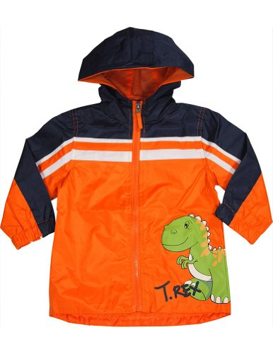 Ixtreme - Baby Boys Hooded Windbreaker Jacket, Orange, Navy 33710-18Months front-695782