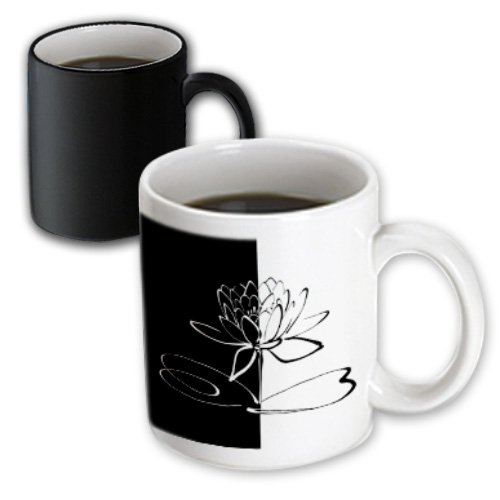 Lee Hiller Designs Yin Yang - Yin Yang Lotus Blossom - 11Oz Magic Transforming Mug (Mug_107242_3)