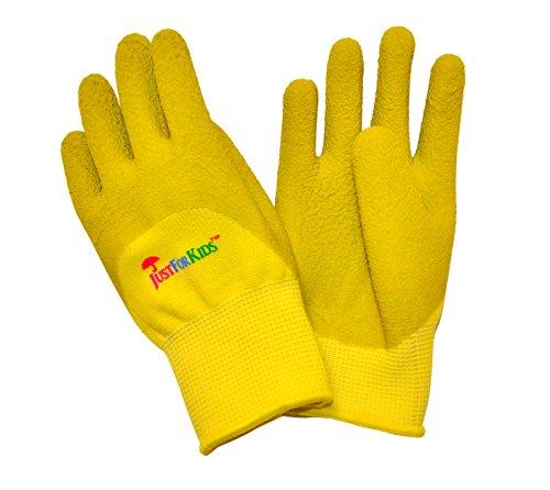 g-f-2040-g-justforkids-premium-microfoam-textur-beschichtung-kids-all-purpose-handschuhe-gelb-grun
