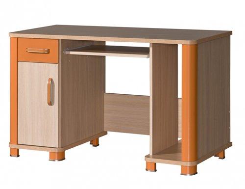 Schreibtisch Computertisch Kinderzimmer eiche milchig orange günstig