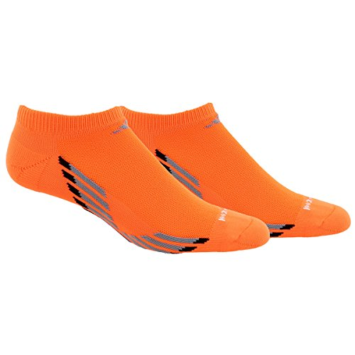 Adidas Men's Climacool X Iii No Show Socks (2 Pack), Solar Orange/Grey/Black/Onix, One Size