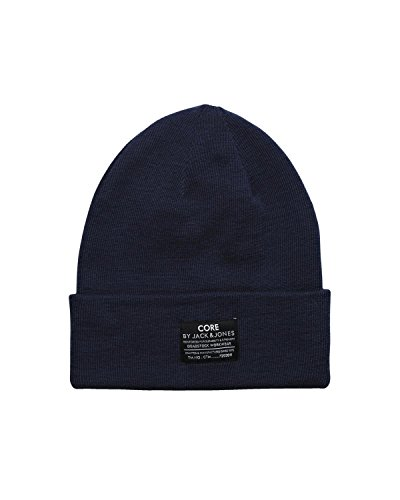 JACK & JONES Dna Knit Beanie Basic-Berretto a maglia Uomo    blu Taglia unica
