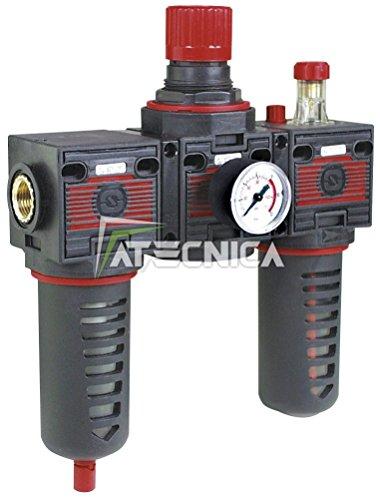 Gruppe-Modulares-FIAC-92013-bestehend-aus--Filter-Druckregler-Druckluft-900-Lmin