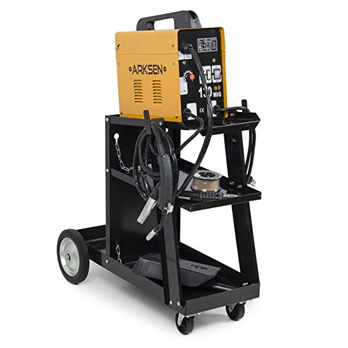 Why Choose ARKSEN© MIG-130 Gas-Less Welding Machine + Cart w/ Wheel (Automatic Feed Wire Welder) Ye...