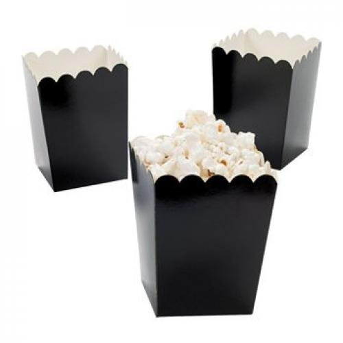 Mini Popcorn Boxes - Black (2 dozen per unit)