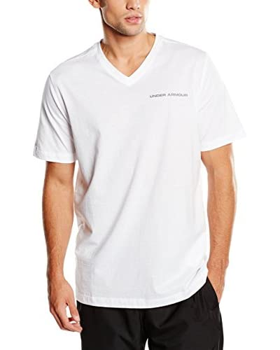Under Armour T-Shirt Charged V-Neck weiß L (LG)