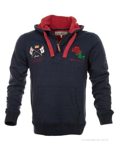 Joules Men's England Hooded Polo Sweatshirt - Navy N_ENGPHOODED - M