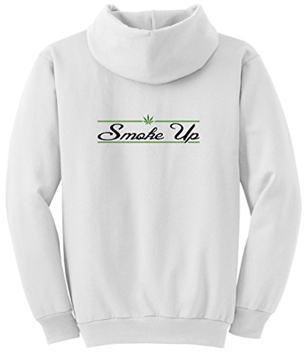 Tshirtsxl Big Men'S Smoke Up Graphic Pull Over Hoodie, 3X, White