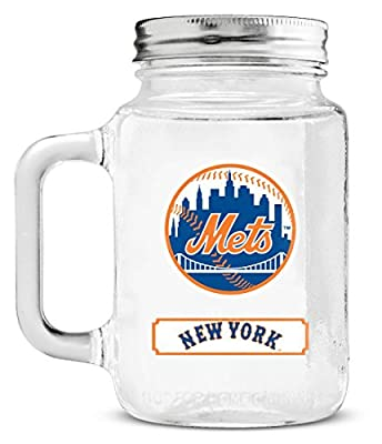 MLB Mason Jar Glass With Lid