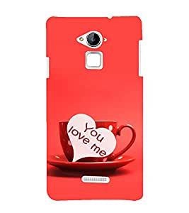 printtech Love Heart Couple Cup Back Case Cover for Coolpad Note 3 Lite Dual SIM with dual-SIM card slots
