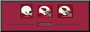 Arizona Cardinals Team Wool Blend Fabric Logos Throughout The Years With Team Color... by Art and More, Davenport, IA