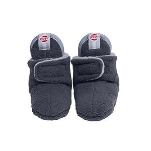 Lodger - Zapatillas para bebé (forro polar), color gris antracita