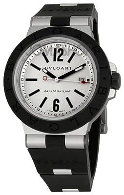 Bvlgari Diagono Aluminum and Black Rubber Mens Watch AL44TAVD/SLN