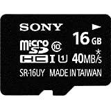 Sony 16GB Class 10 Micro SDHC R40 Memory Card (SR16UYA/TQMN) (OLD MODEL)