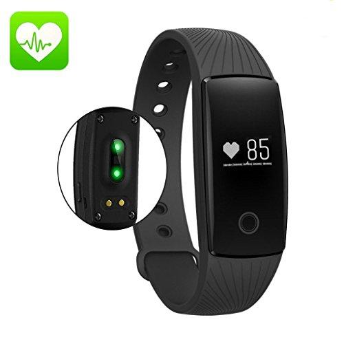 AcFun Smart band ID107 Plus, Bluetooth compatibile con Android e iOS. Misurazione frequenza cardiaca, Conta Passi, Consumo Calorie, Misurazione distanza percorsa, Impermeabili.