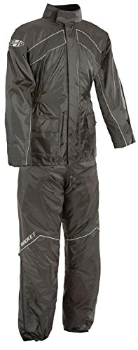 Joe Rocket RS-2 Men's Motorcycle Rain Suit (Black, Medium)