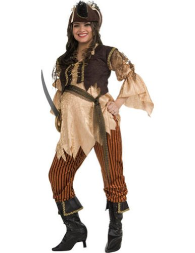 Adult-Costume Maternity Pirate Queen Adult Halloween Costume