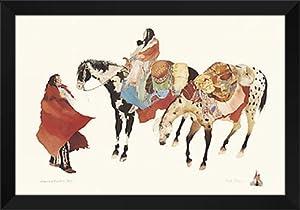 "Amazon.com: Carol Grigg Framed Art Print 40x28 ""Leaving Winter-s Camp"