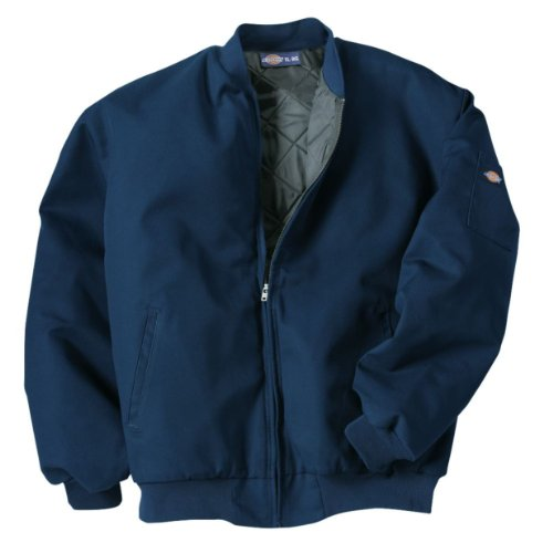 Dickies Occupational Workwear Jtc2Dn M Polyester/Cotton Insulated Team Jacket With Slash Front Pockets, Medium, Dark Navy front-504790
