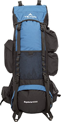 TETON Sports Explorer 4000 Internal Frame Backpack; Free Rain Cover Included