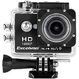 Excelvan TC-Y8 30M Étanche WiFi Full HD H264 1080p 12Mp Vidéo DV Action Caméra du Sport + Kits accessoires ensemble - Noir