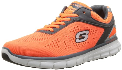 Skechers Synergy Power Shield Trainers Mens Orange Orange (ORCC) Size: 8 (42 EU)