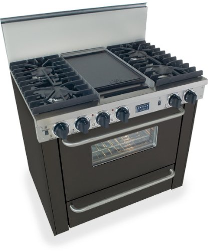 """36"""" Pro-Style Natural Gas Range With 4 Sealed Ultra High-Low Burners 3.69 Cu. Ft. Convection Oven Manual Clean And Double Sided Grill/Griddle"""
