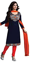Style Amaze Cotton Blue Dress Material