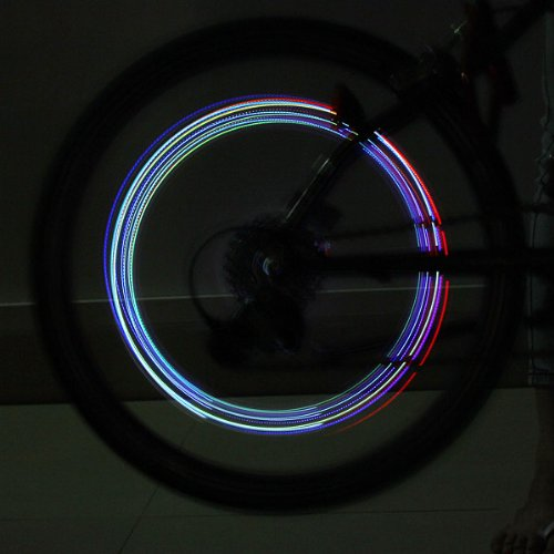 Bicycle Bike Tyre Tire Valve Wheel LED Light Colorful (Ti Carb compare prices)