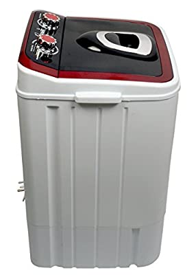 LTPL4060 Portable Mini Washing Machine 4.6 Kg wash & 2 Kg dry - Red & Black