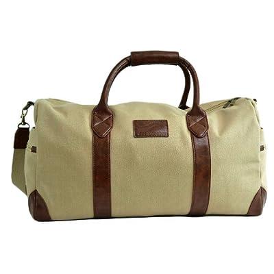 Luxury Large Canvas Travel Holdall Duffel Bag Weekender Bag