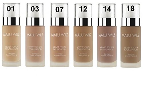 Malu Wilz - Velvet touch Foundation # 12, crema di copertura make-up, per la ...