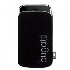 bugatti Tasche SlimCase, SoftTouchNeopren für Apple iPhone 4, iPhone 4S, iPhone 4 S, IV, schwarz