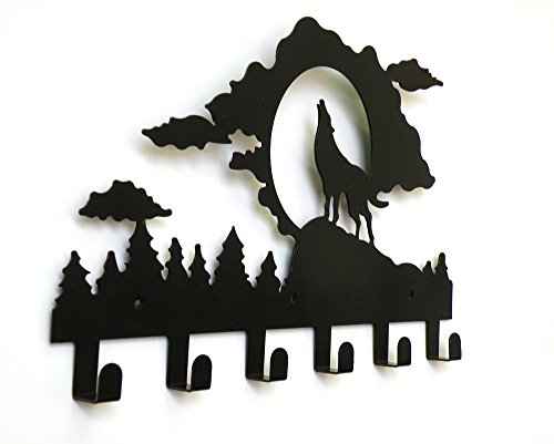 """""""Eagle iRoot"""" Creative Gorgeous Wrought Iron Metal Wall Hooks Hanger Key Ring Holder Original Creative Wrought Iron Decorative Hook , Hanging Clothes, Hanging Bags...Strong Bearing Product Can Hang it on... Measures 15.75inches Length x 9inches High. (Mo"""