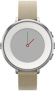 Pebble 14 mm Time Round Smartwatch - Silver/Stone