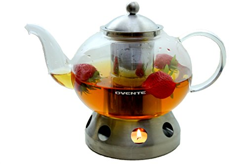 Ovente Food Warmer ~ Ovente fgd t glass teapot with stainless steel warmer