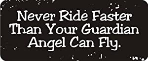Never ride faster than your guardian angel can fly - YouTube