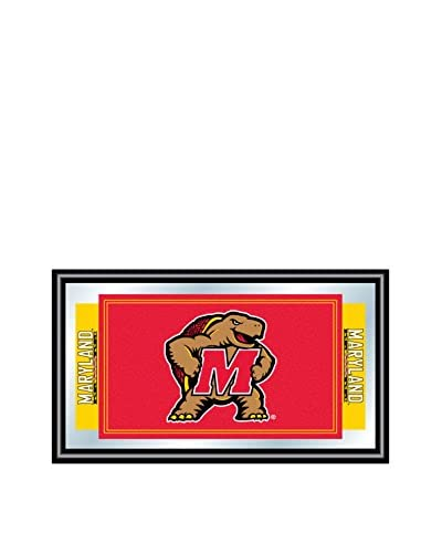 Trademark Global Maryland University Logo & Mascot Framed Mirror