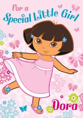 Dora the Explorer Birthday Card 'For a Special Little Girl' - No Badge & Any Age
