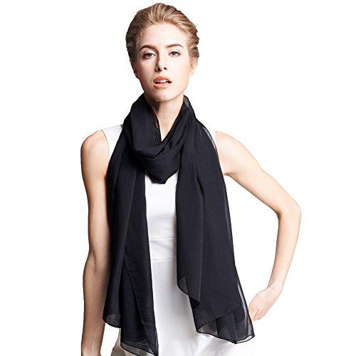 Ysiop-Women-100-Silk-Solid-Scarf-Oversize-Sunscreen-Shawl-Infinity-Beach-Towel-Black