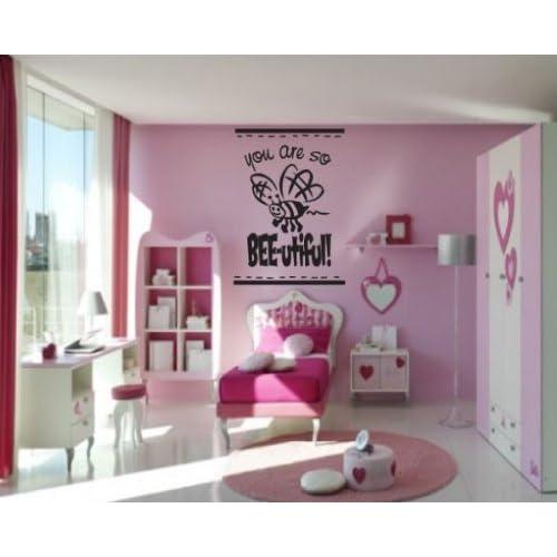 you are so BEE utiful beeimgvinyl Decal Wall Sticker