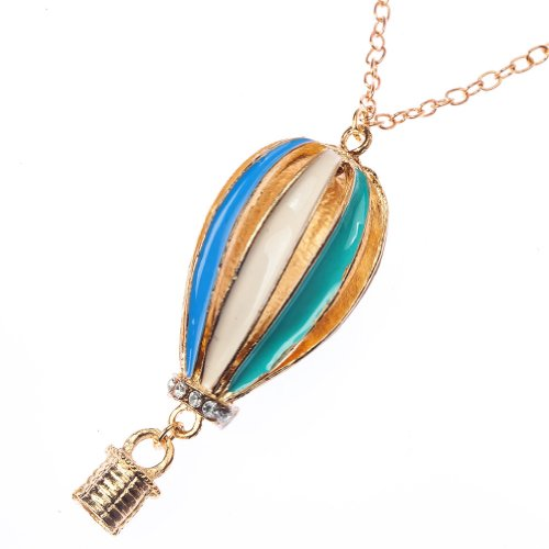 Vintage-Classic-Style-Chain-Fashion-Necklace-Hot-Air-Balloon-Pendant-By-VAGA
