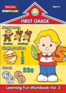 Fisher-Price Little People First Grade Learning Fun Workbook Volume 2