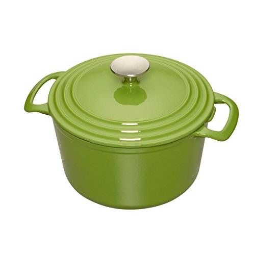Cooks Enameled Cast Iron 7 quart Dutch Oven, Green, Medium (Cast Iron Dutch Oven Green compare prices)